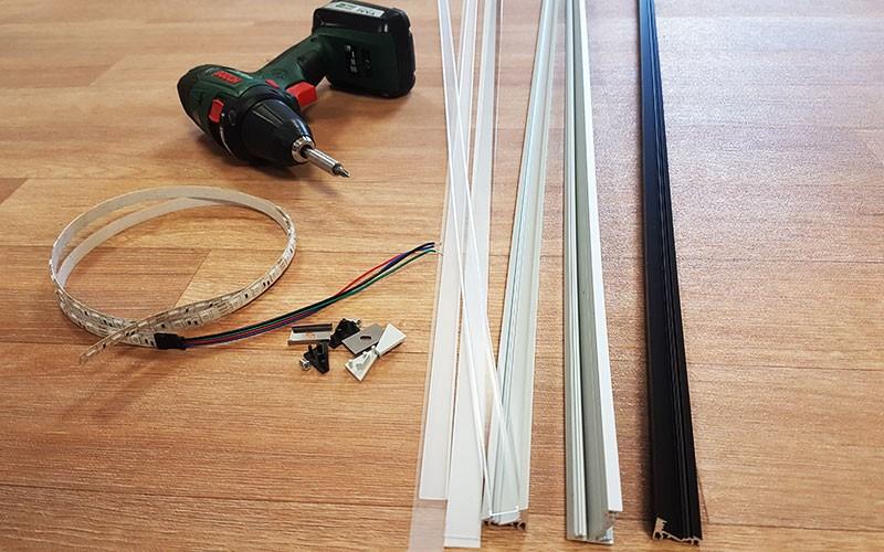 Installer le profilé LED CORNER d'angle ?