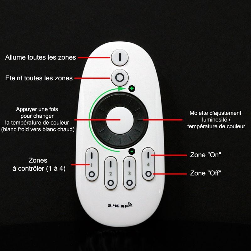 Raccorder et utiliser le contrôleur LED mono-couleur multizones