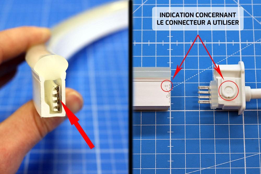 Couper et raccorder un néon LED DOME RGB