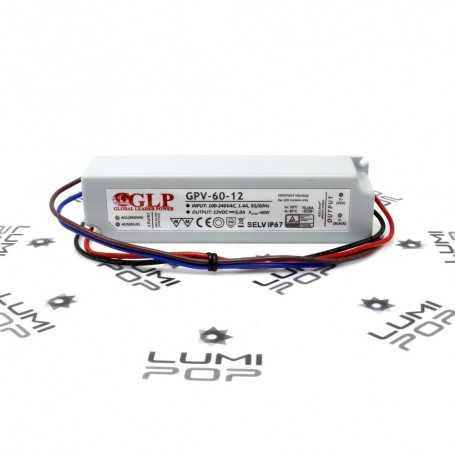 Alimentation LED étanche 220V/12V 60W IP67
