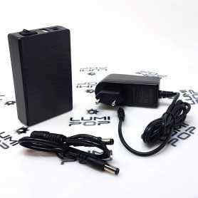 Mini batterie rechargeable USB 5V/12V 3000mAh avec chargeur secteur