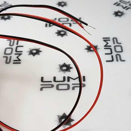 Fil électrique 2x0,35mm² pour ruban LED monocouleur. Vendu au mètre