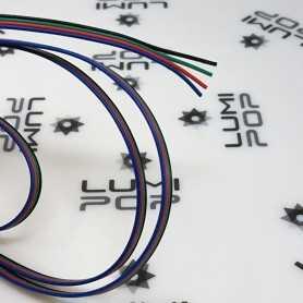 Fil électrique 4x0,35mm² pour ruban LED RGB. Vendu au mètre