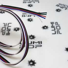 Fil électrique 5x0,35mm² pour ruban LED RGBW. Vendu au mètre