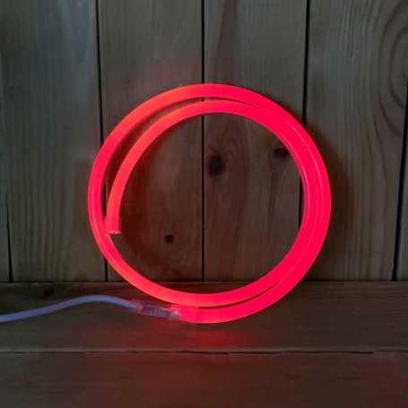Néon LED 220V direct rouge étanche. Vendu au mètre