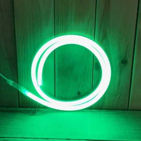 Néon LED 220V direct vert étanche. Vendu au mètre