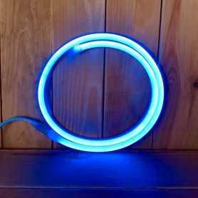 Néon LED 220V direct bleu étanche. Vendu au mètre