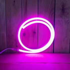 Néon LED 220V direct rose étanche. Vendu au mètre