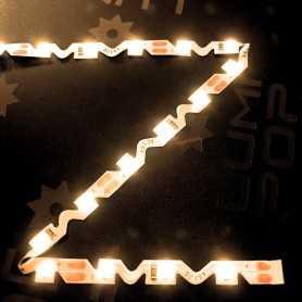 Ruban LED ZIG ZAG blanc chaud de 5m
