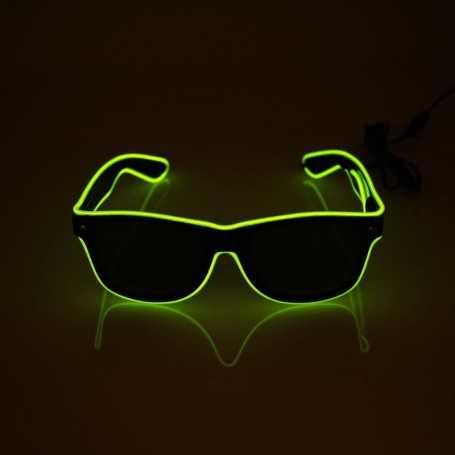 Lunettes lumineuses vertes fluo pour soirée et fêtes