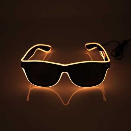 Lunettes lumineuses oranges fluo pour soirée et fêtes