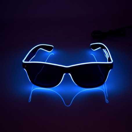 Lunettes lumineuses bleues pour soirée et fêtes