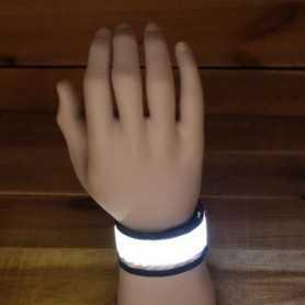 Bracelet lumineux LED blanc idéal pour le sport ou les soirées
