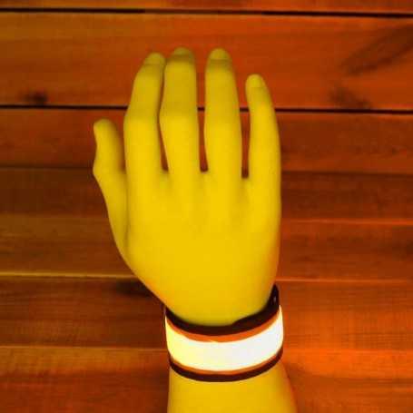 Bracelet SLAP lumineux à LED orange pour le sport et les soirées
