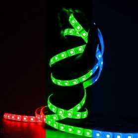 Ruban LED multicolore 60LED/m étanche 5m
