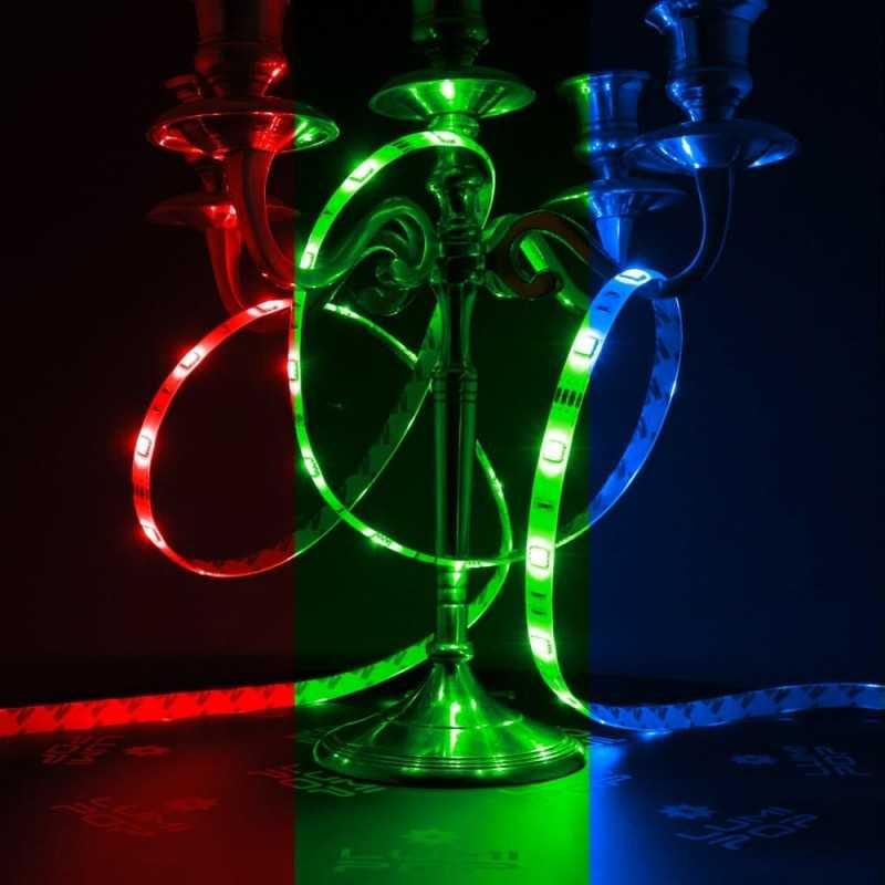 Ruban Led Multicolore 2m50 Puissant Pour Salle De Bain Et