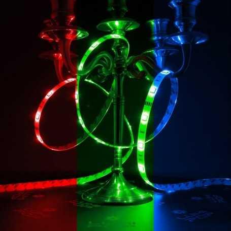 Ruban LED multicolore 30LED/m étanche 2m50