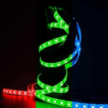 Ruban LED multicolore 60LED/m étanche 2m50