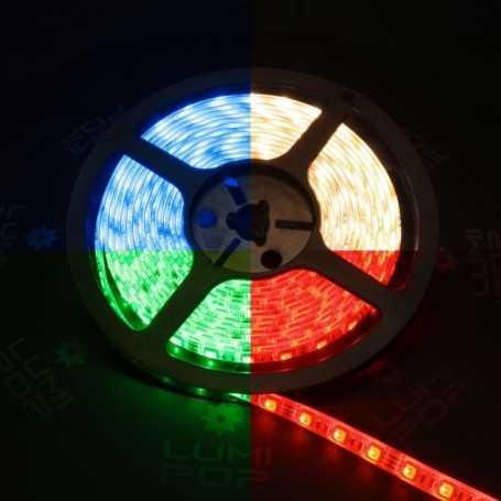Ruban LED multicolore avec un vrai blanc chaud de 5m