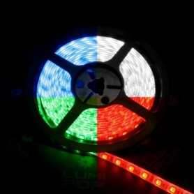 Ruban LED multicolore avec un vrai blanc froid de 5m
