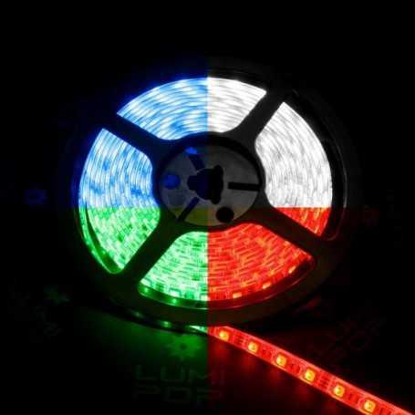 Ruban LED multicolore avec un vrai blanc froid de 2m50