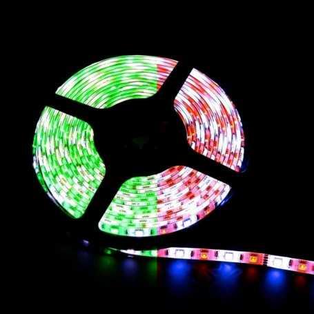 Ruban LED multicolore avec en plus une LED blanche de 5m