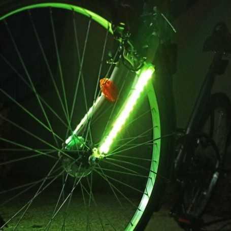 Paire de ruban LED multicolore pour fourche de vélo