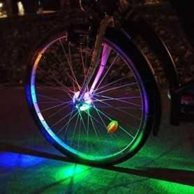 Disque lumineux multicolore pour axe de roue vélo