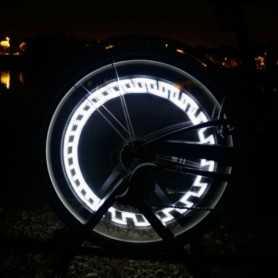 Valve LED blanche pour roue de vélo