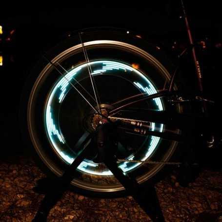 Catadioptre lumineux LED pour roue de vélo