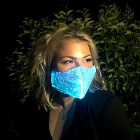 Masque de protection lumineux à LED bleu