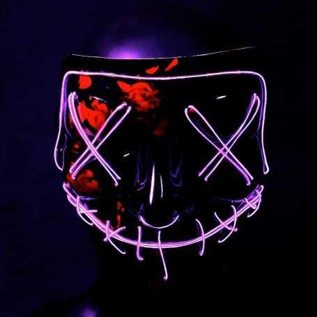 Masque lumineux La Purge violet