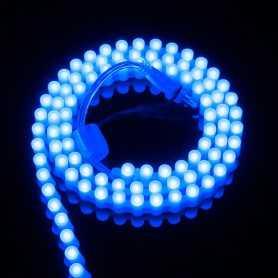 Ruban LED SILICONE bleu 1m étanche IP65 96LED/m 12V gamme PREMIUM