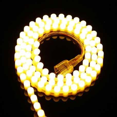 Ruban LED SILICONE blanc chaud 1m étanche IP65 96LED/m 12V gamme PREMIUM