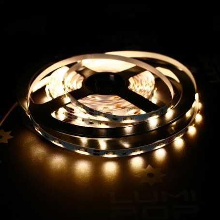 Ruban LED avec éclairage sur le côté blanc chaud