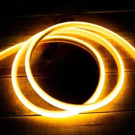 Ruban LED néon blanc chaud 5m 12V étanche IP67 gamme PREMIUM
