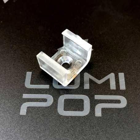 U de fixation plastique transparent pour ruban LED néon