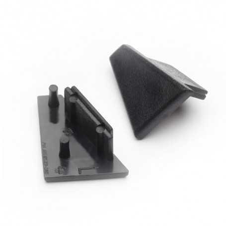 Bouchons noirs pour profilé LED alu CORNER L