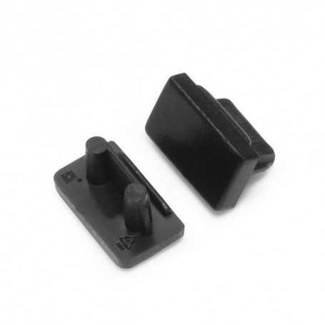 Bouchons noirs pour profilé LED alu SLIM