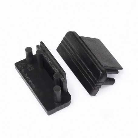 Bouchons noirs pour profilé LED alu SURFACE L