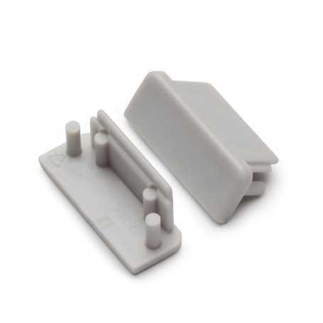 Bouchons gris pour profilé LED alu SURFACE XL