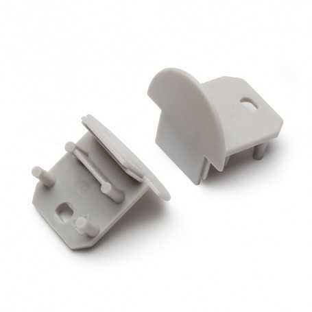 Bouchons gris pour profilé LED alu DEEP