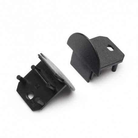 Bouchons noirs pour profilé LED alu DEEP