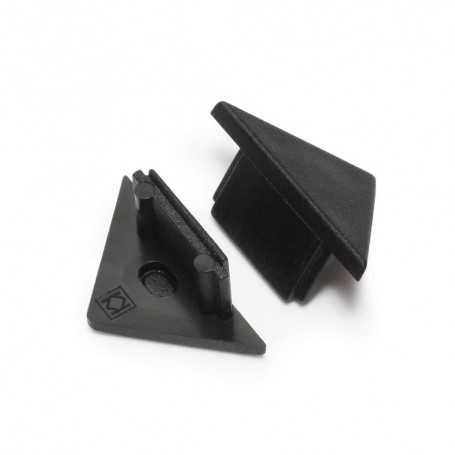 Bouchons noirs pour profilé LED alu TRIO
