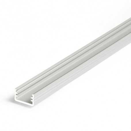 Profilé alu SLIM gris SAILLIE 1m pour ruban LED 8mm