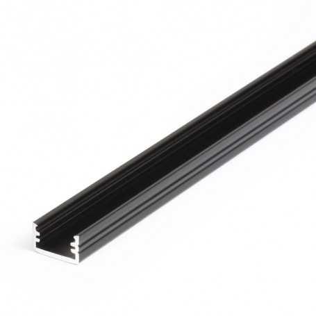 Profilé alu SLIM noir SAILLIE 1m pour ruban LED 8mm