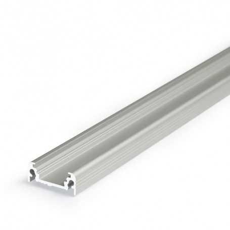 Profilé alu SURFACE L gris SAILLIE 1m pour ruban LED 10mm
