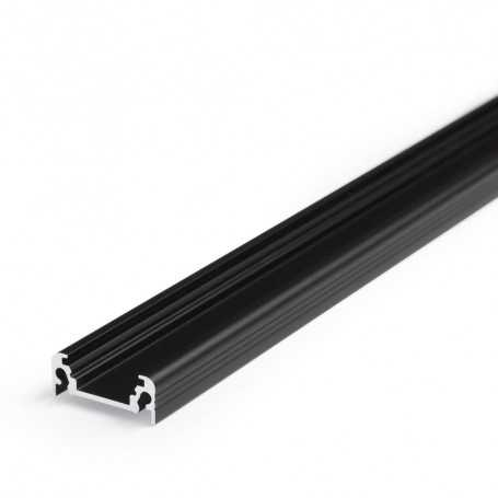 Profilé alu SURFACE L noir SAILLIE 1m pour ruban LED 10mm