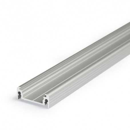 Profilé alu SURFACE XL gris SAILLIE 1m pour ruban LED 14mm