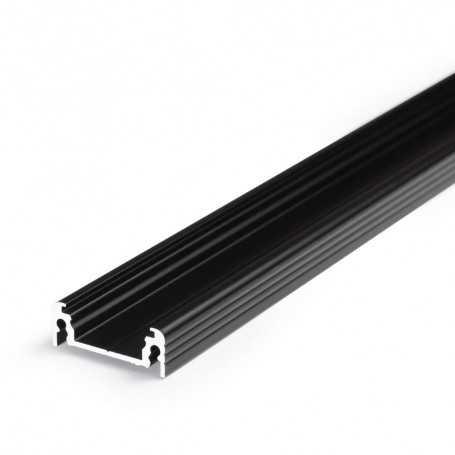 Profilé alu SURFACE XL noir SAILLIE 1m pour ruban LED 14mm